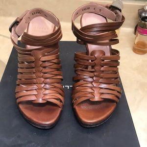Stuart Weitzman heeled sandals.
